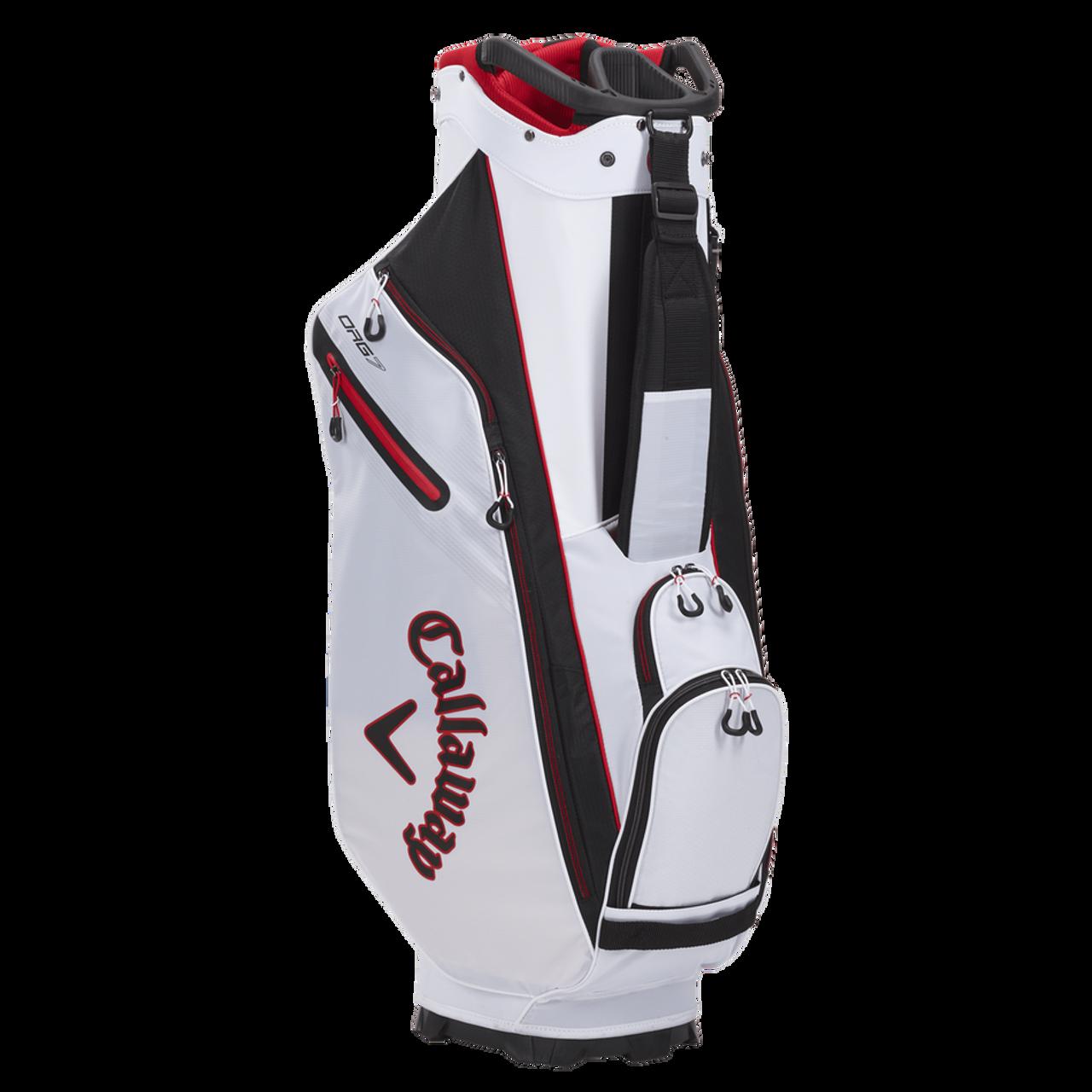 Callaway Org 7 Cart Bag 2021 - White / Black / Fire Red