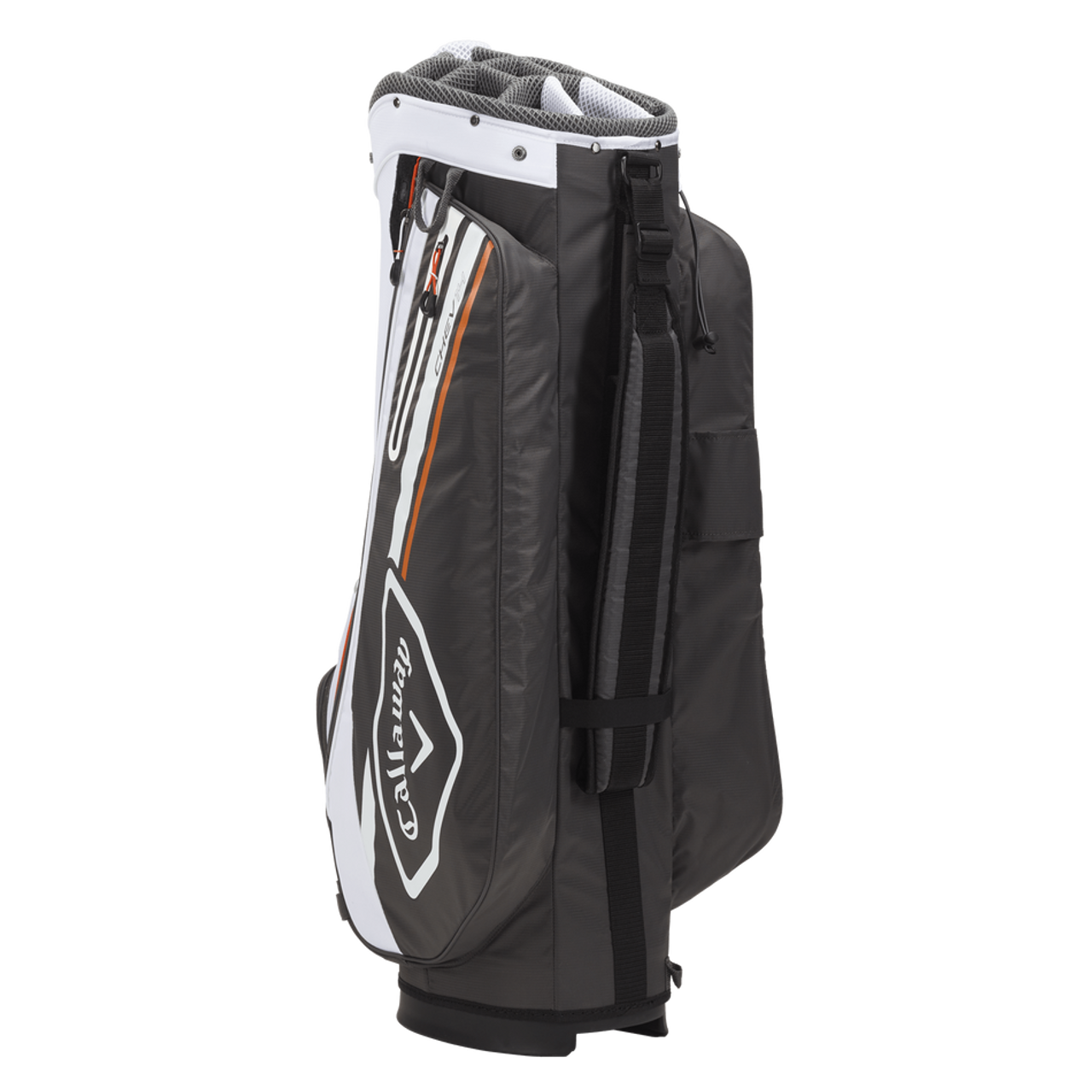 Callaway Chev 14 Cart Bag 2021 - Charcoal / White / Orange