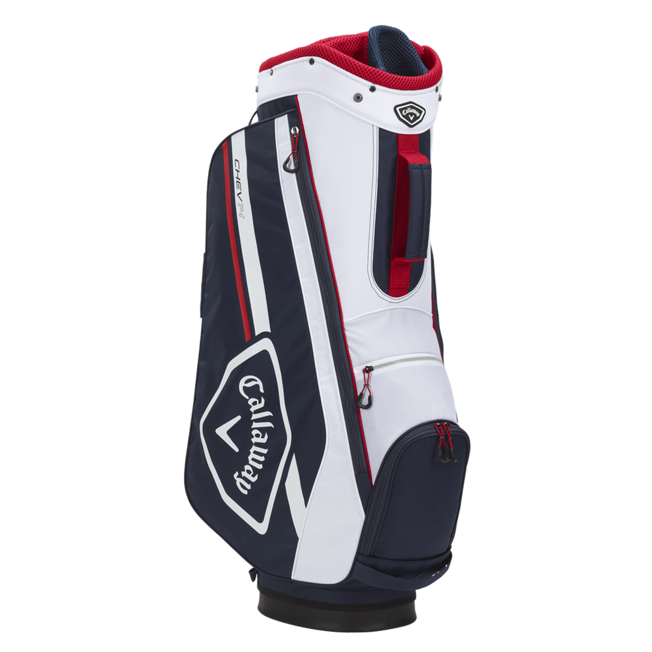 Callaway Chev 14 Cart Bag 2021 - Navy / White / Red