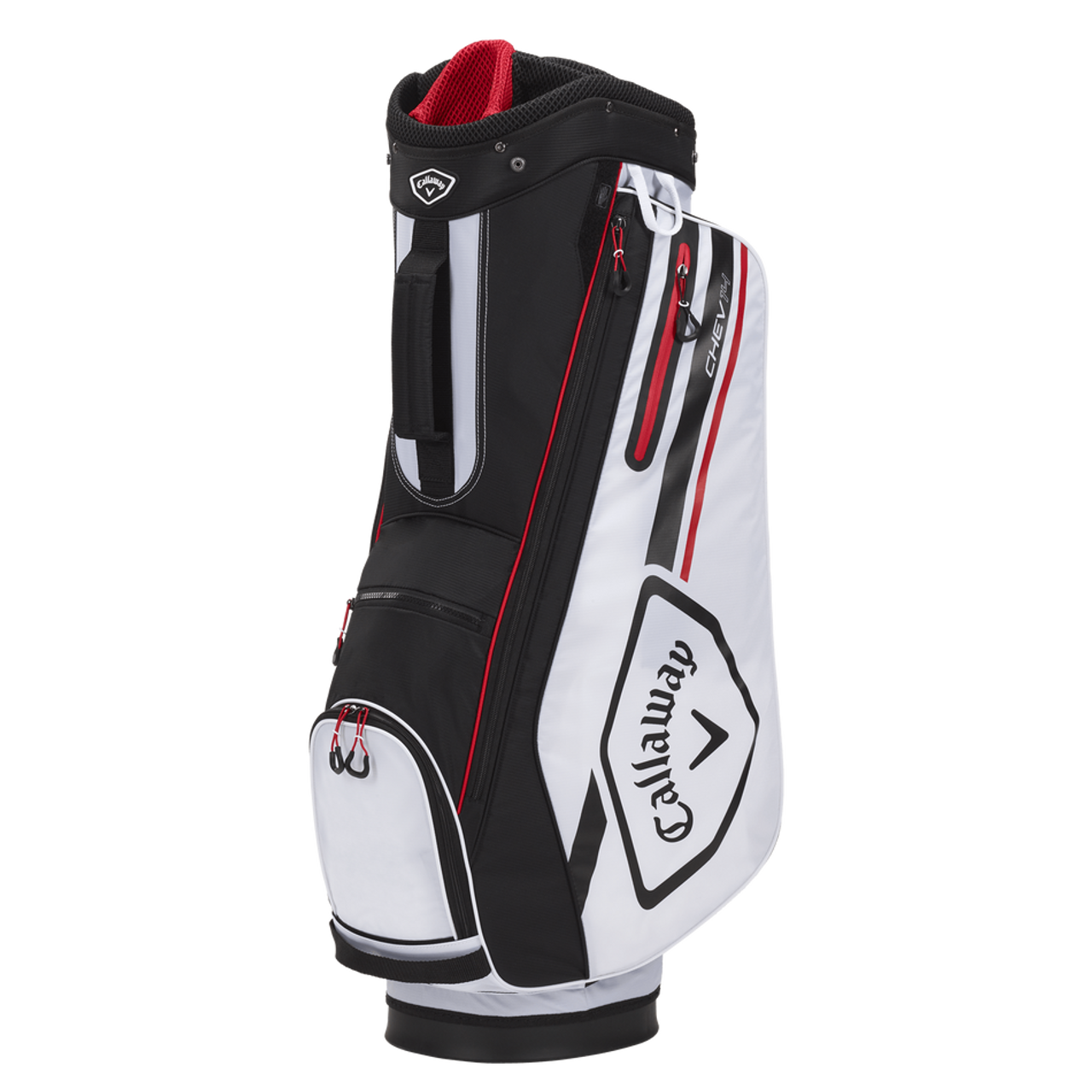 Callaway Chev 14 Cart Bag 2021 - White / Black / Fire