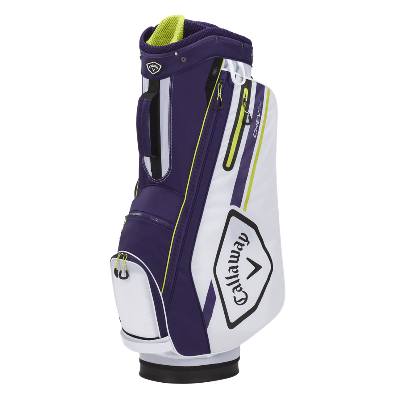 Callaway Chev 14 Cart Bag 2021 - White / Purple / Floral Yellow