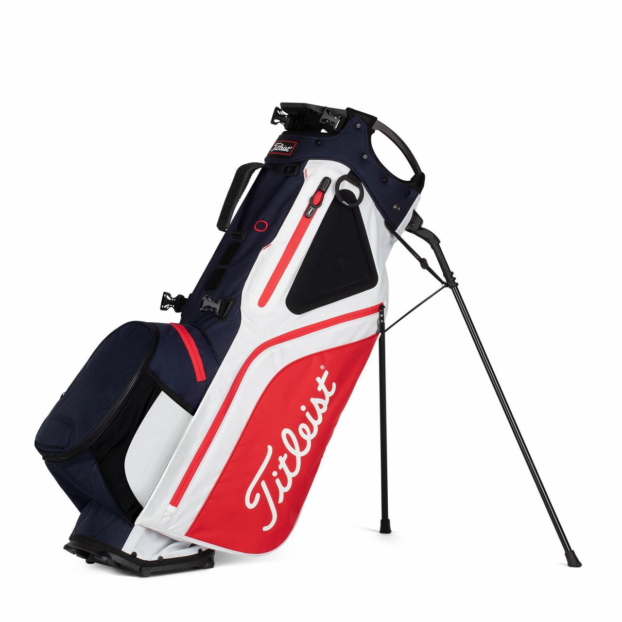 Titleist Hybrid 5 Golf Bag 2021 - Navy / White / Red