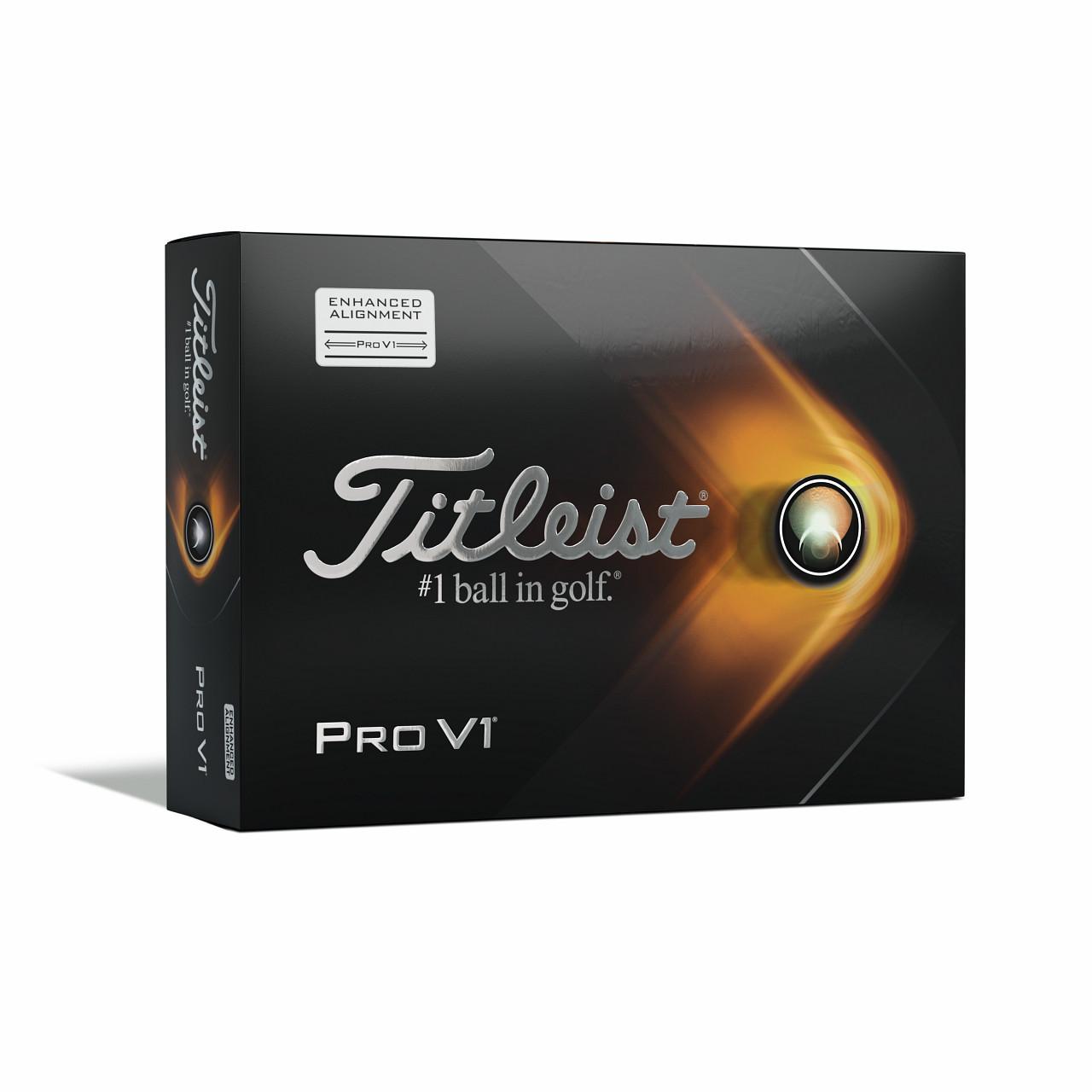 Titleist Pro V1 Dozen Golf Balls 2021 - Aim Alignment