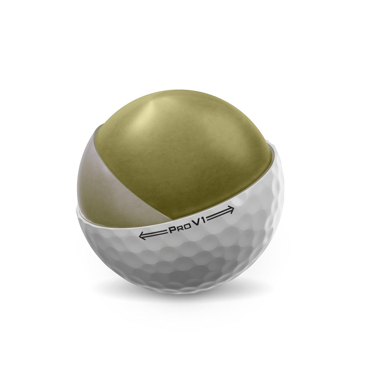 Titleist Pro V1 Dozen Golf Balls 2021 - Core View