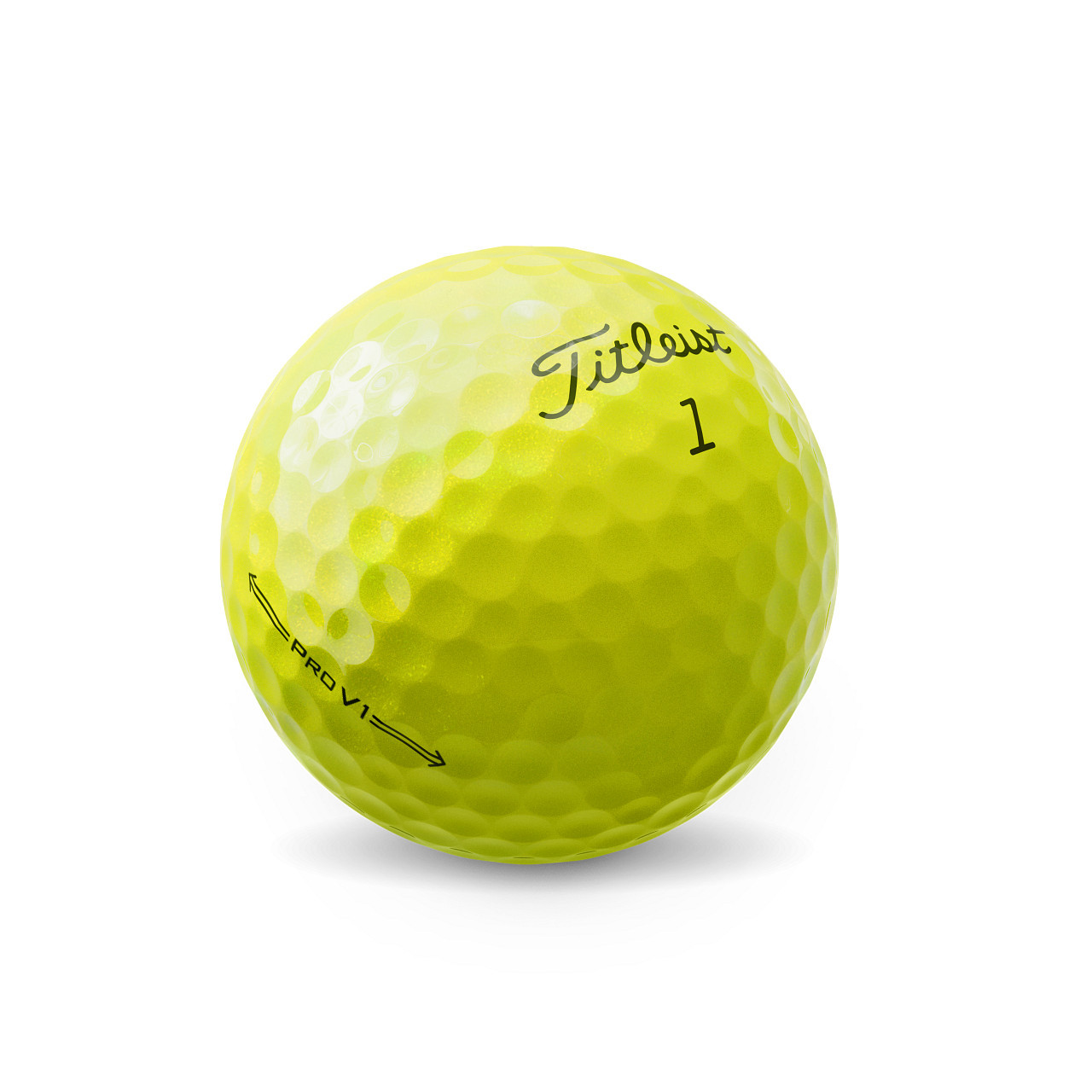 Titleist Personalized Pro V1 Yellow Dozen Golf Balls 2021