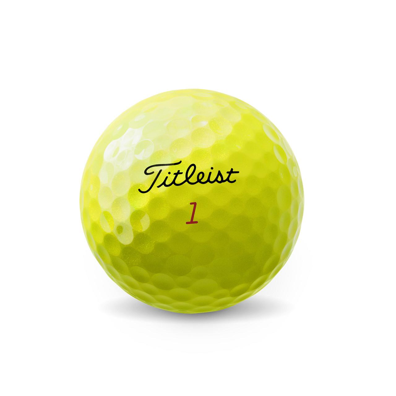 Titleist Personalized Pro V1x Yellow Dozen Golf Balls 2021