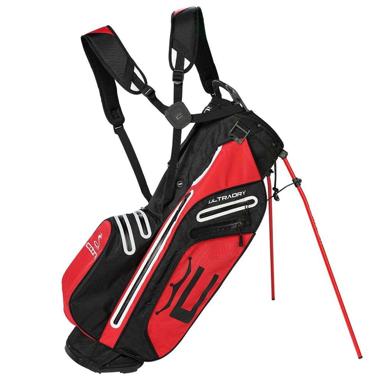 Cobra UltraDry Pro Stand Bag - Black / High Risk Red