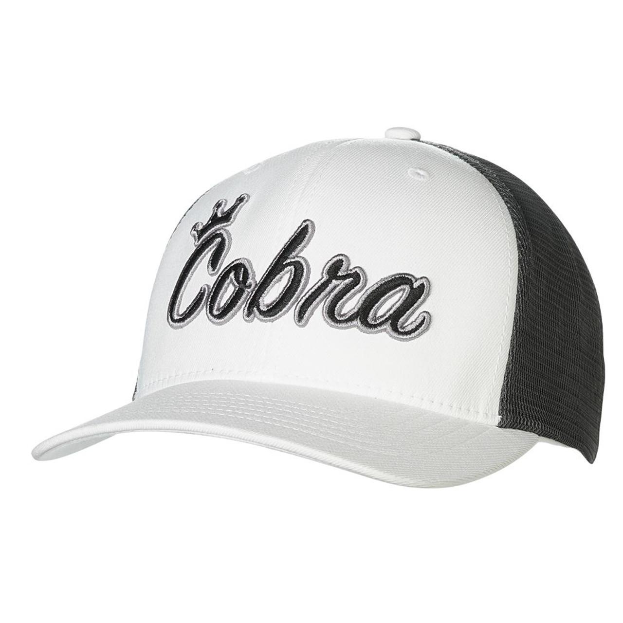 Cobra Crown C Trucker Snapback Cap - White