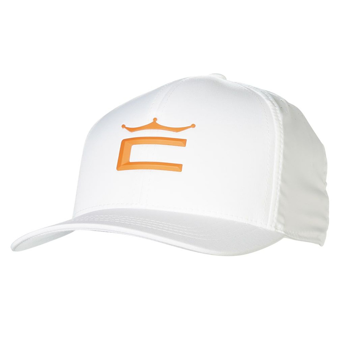 Cobra Tour Crown 110 Cap - White / Vibrant Orange