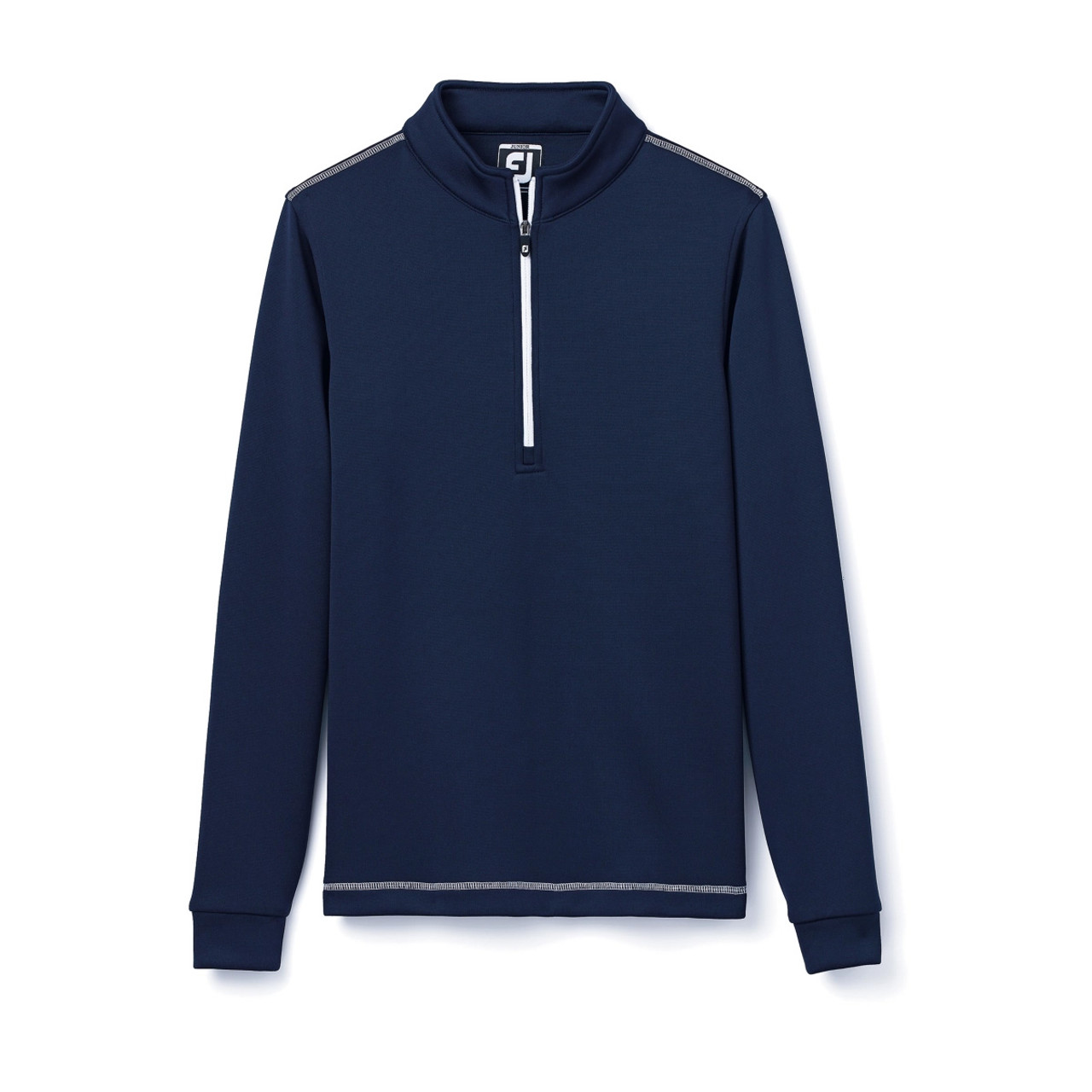 FootJoy Junior Half-Zip Contrast Stitch Mid-Layer - Navy (25198)