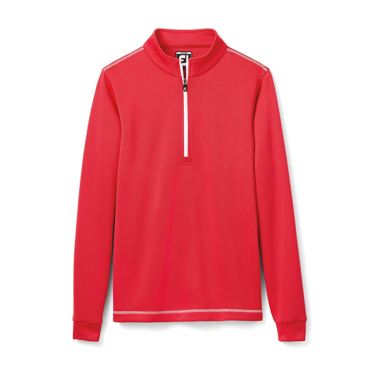 FootJoy Junior Half-Zip Contrast Stitch Mid-Layer - Red (25199)