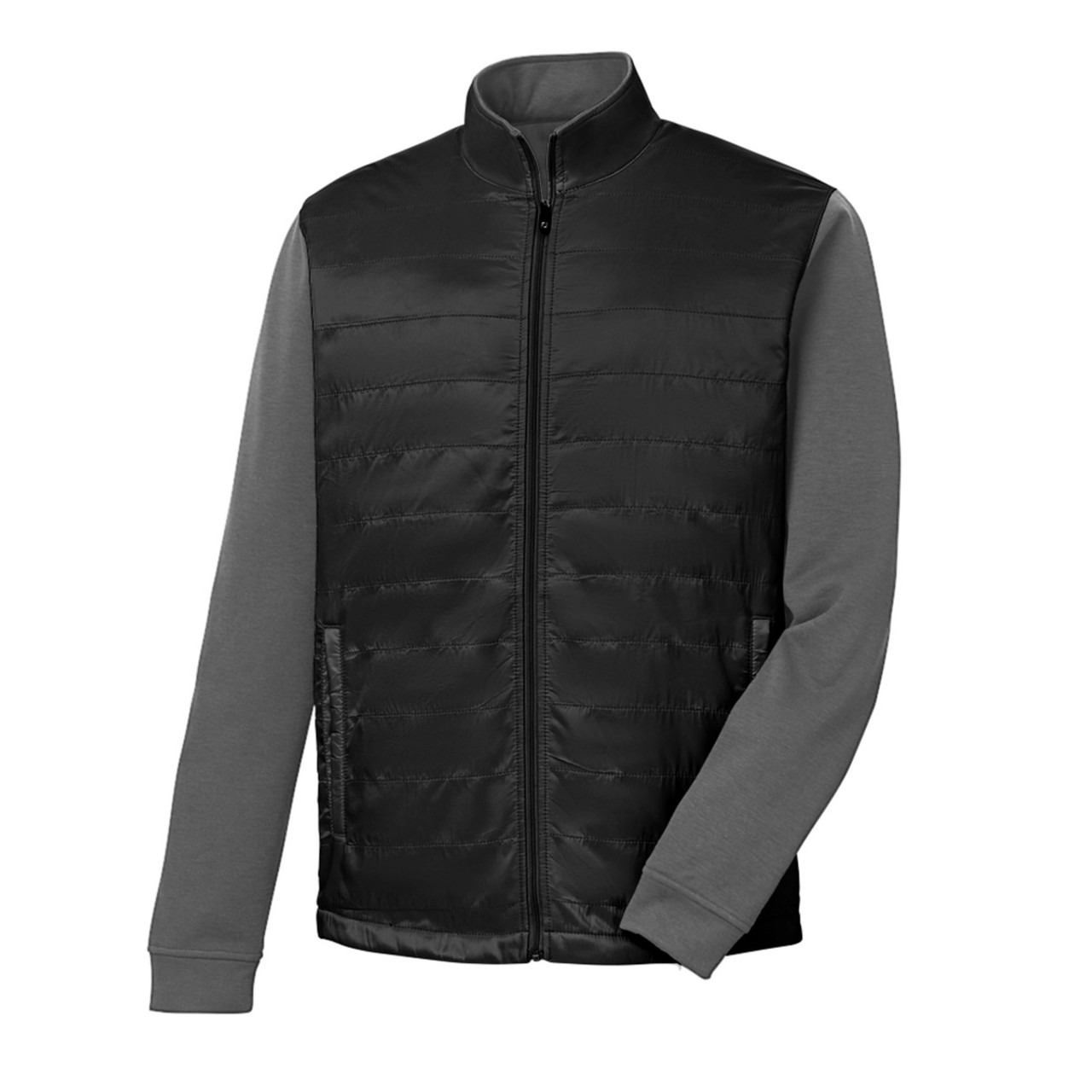 FootJoy Full-Zip Hybrid Jacket - Black / Charcoal (25212)