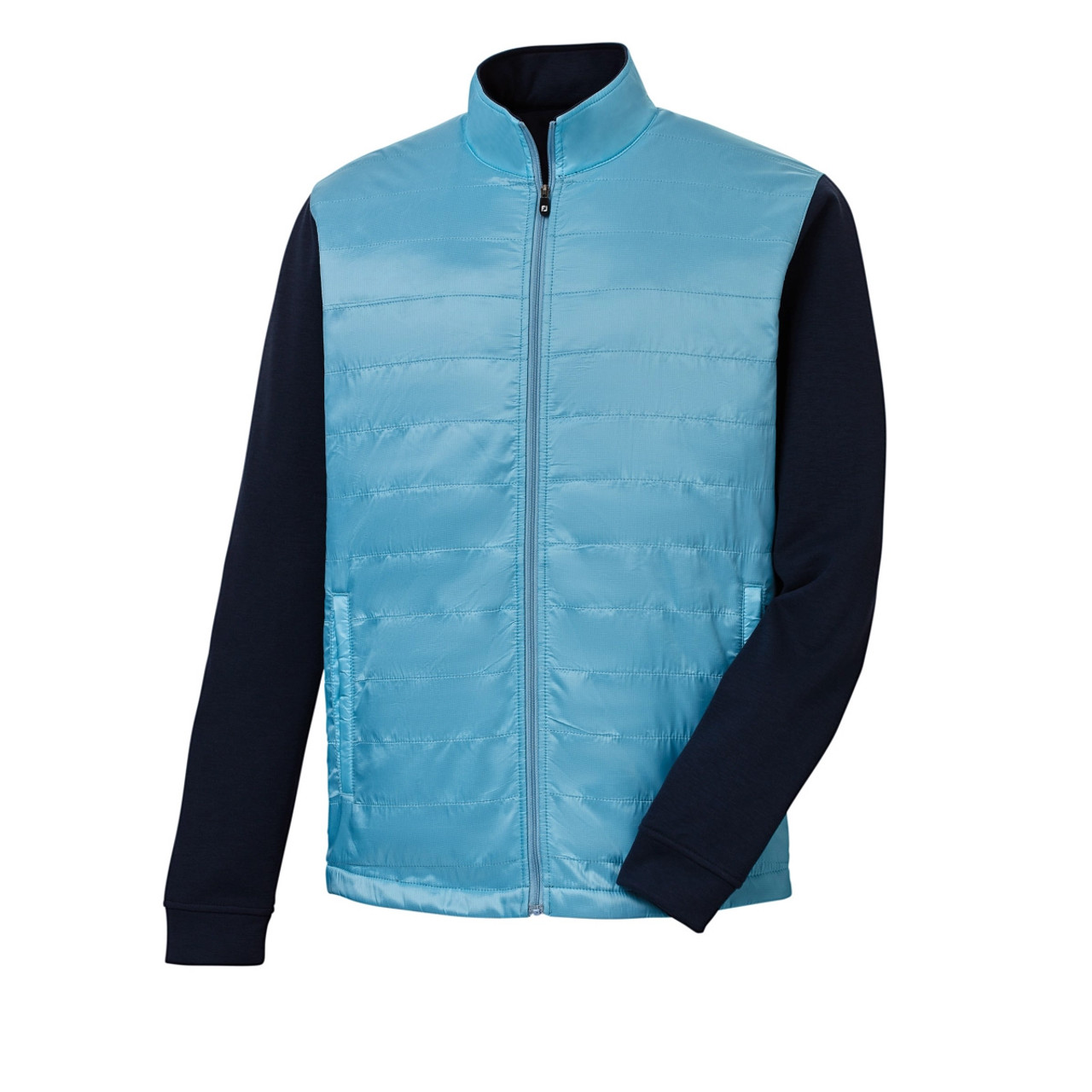 FootJoy Full-Zip Hybrid Jacket - Light Blue / Navy (25211)