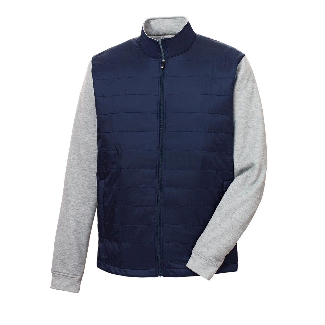 FootJoy Full-Zip Hybrid Jacket - Navy / Heather Grey (25209)