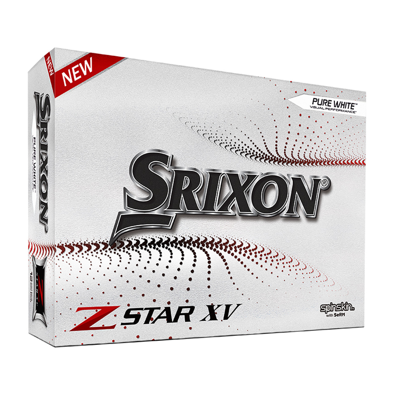 Srixon Z-Star XV 7 Personalized Golf Balls Dozen - White
