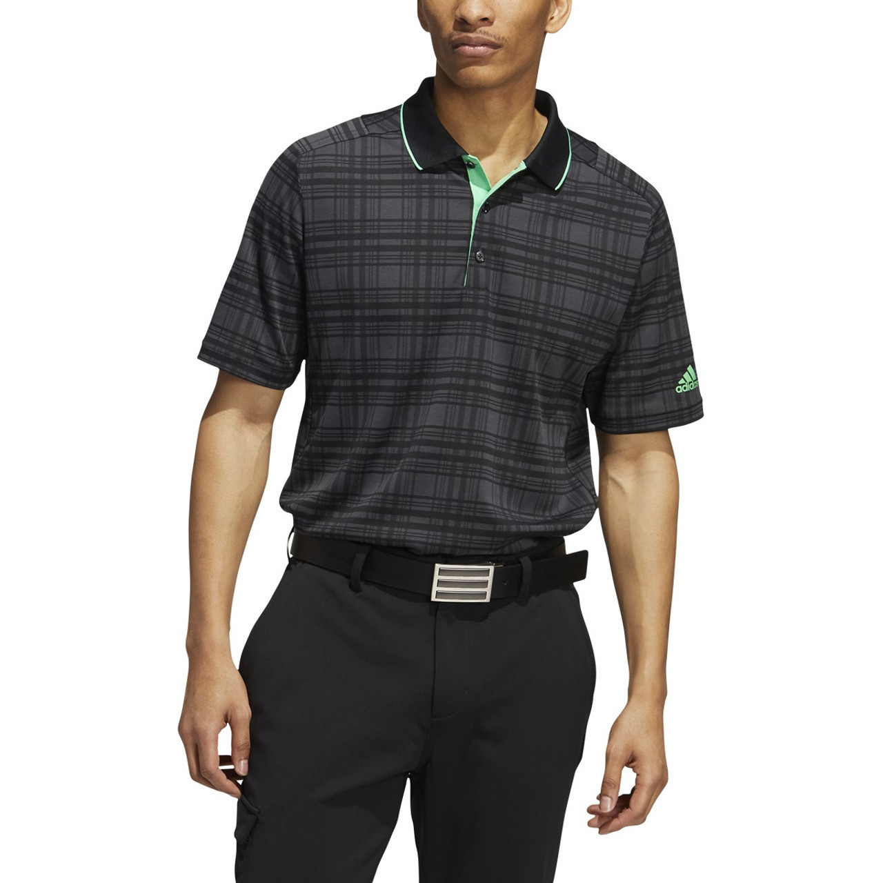 Adidas Statement No Show Polo - Carbon / Jungle Ink