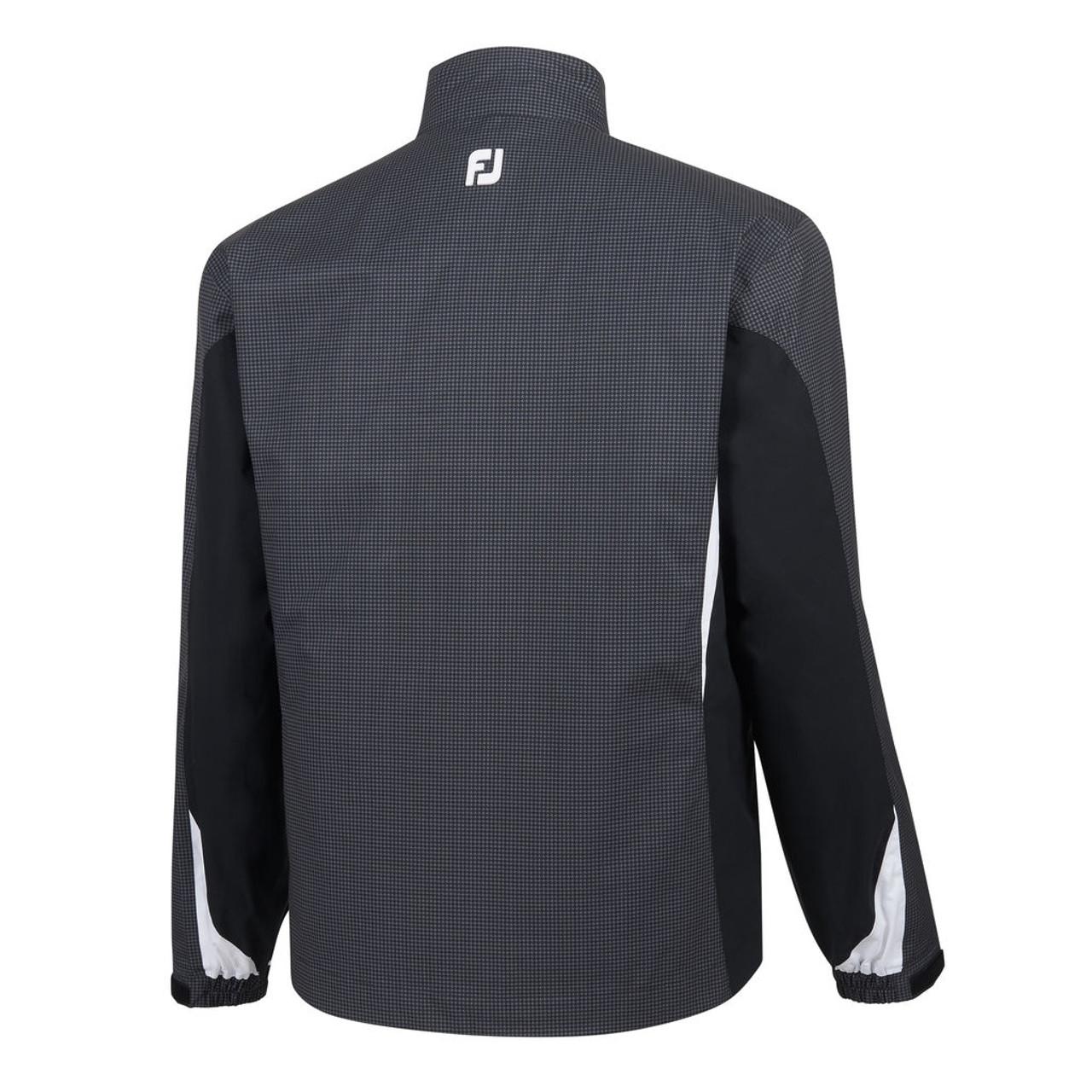 FootJoy FJ Hydrolite Rain Jacket - Charcoal / Black Houndstooth (23774)