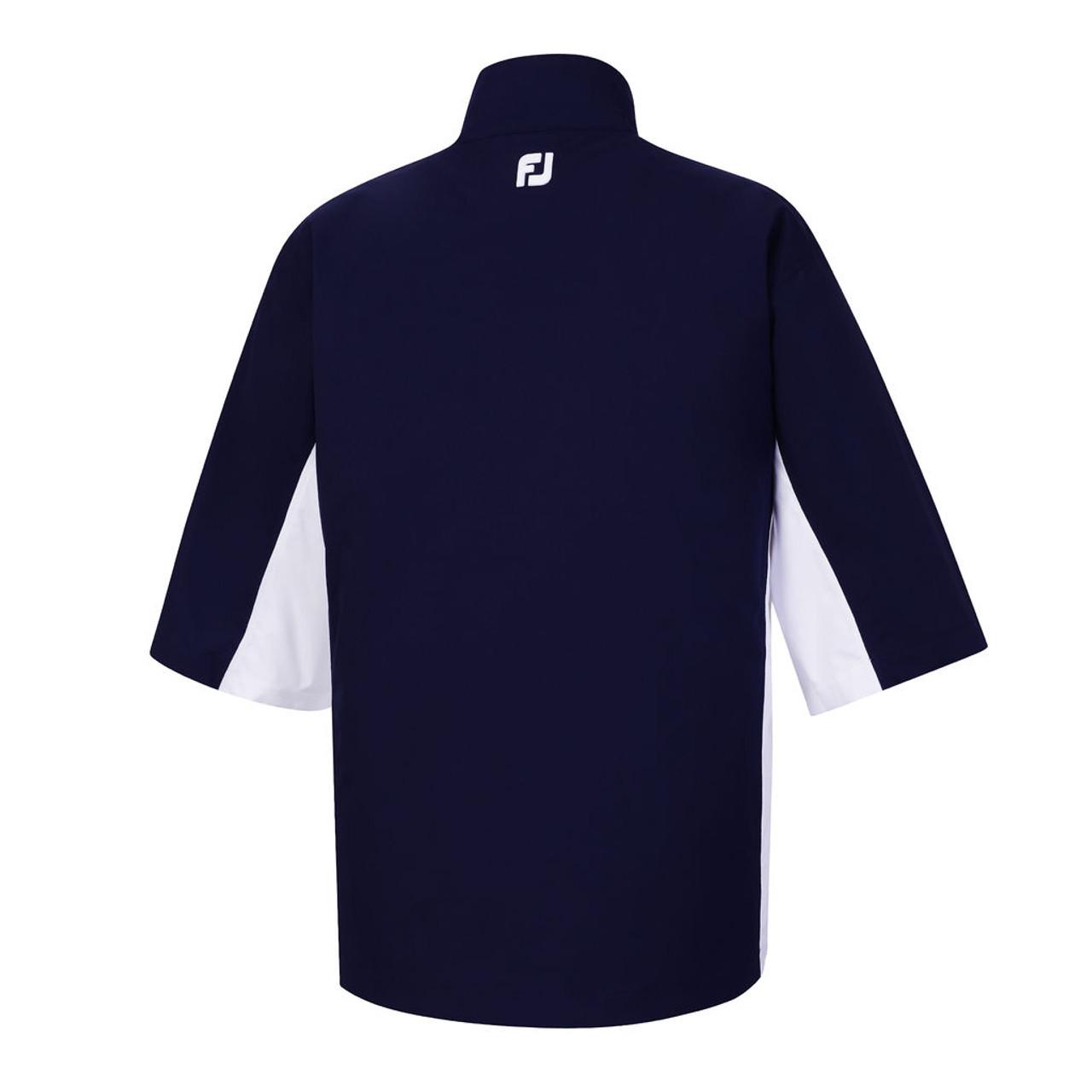 FootJoy FJ Hydrolite Short Sleeve Rain Shirt - Navy / White / Black (23729)