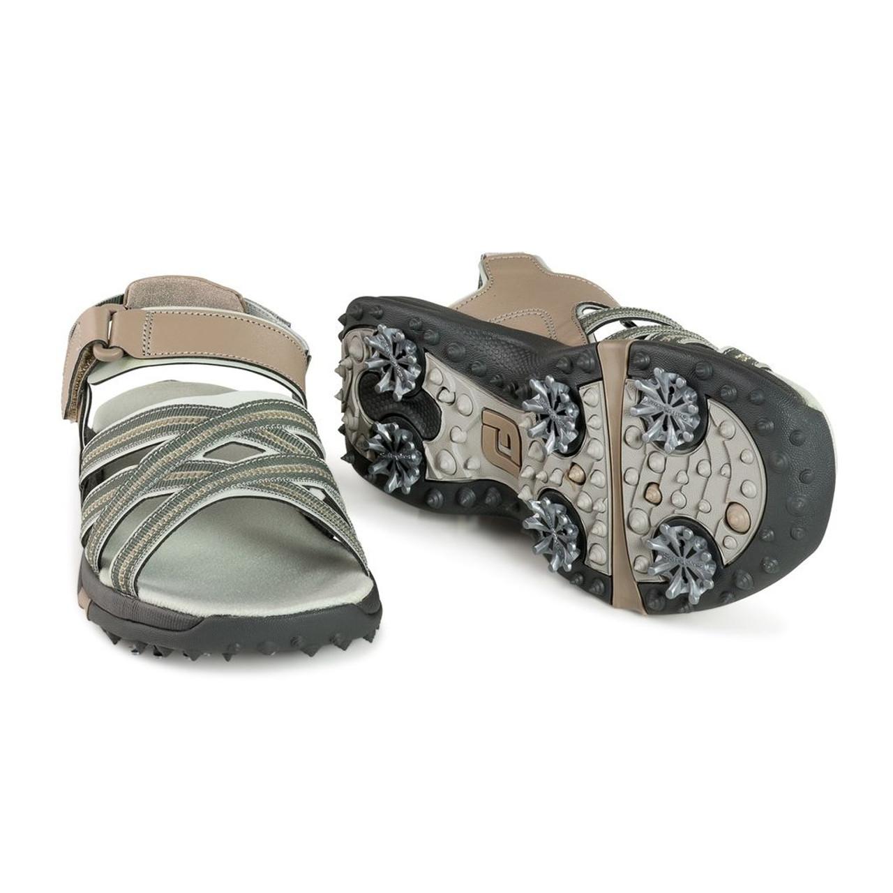 FootJoy Womens Golf Sandals - Tan / Light Grey (48446)