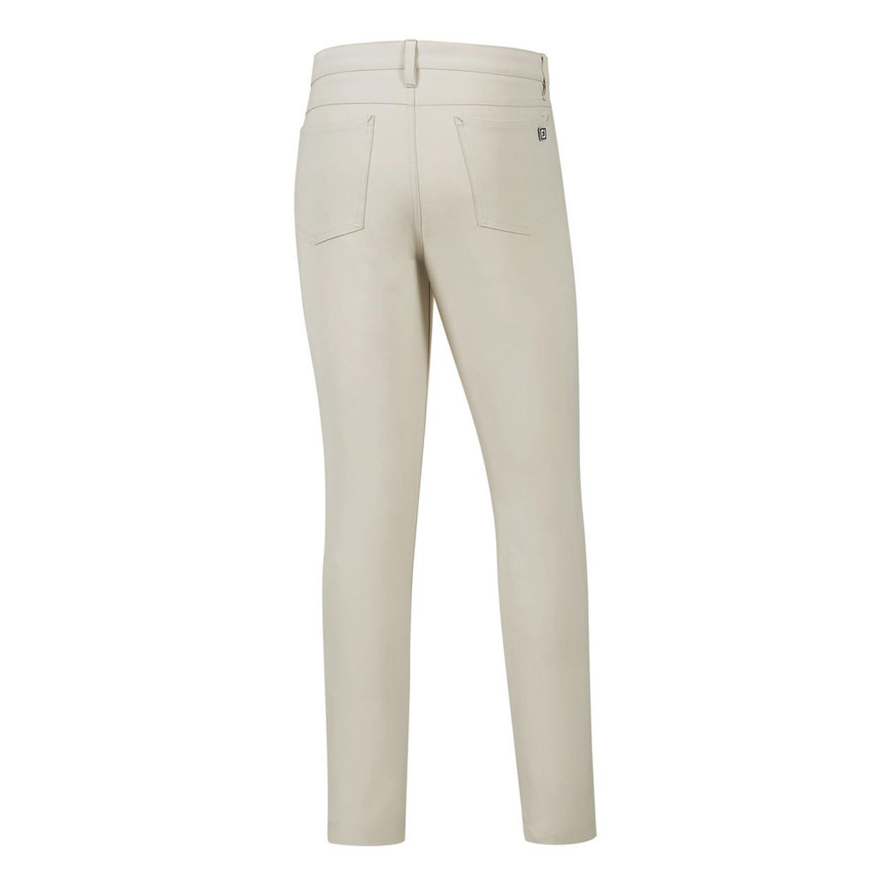 FootJoy Athletic Fit Performance 5-Pocket Pants - Stone (24478)