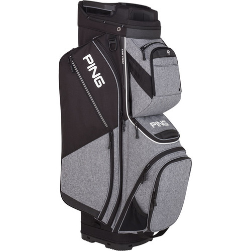 Ping Pioneer Personalized Cart Bags - Heather Grey / Black