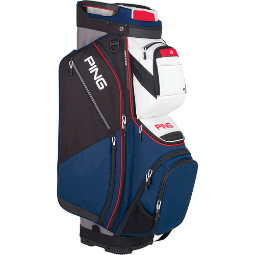 Ping Pioneer Personalized Cart Bags - Navy / White / Scarlet
