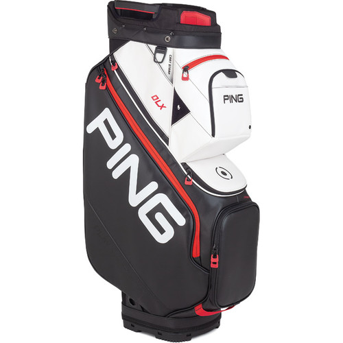 Ping DLX Personalized Cart Bags - Black / White / Scarlet