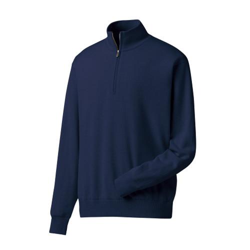 FootJoy Performance Lined 1/2 Zip Sweater - Navy (33856)