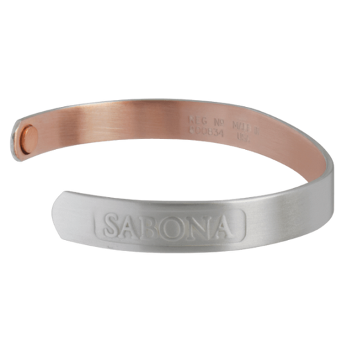 Sabona Realtree Brushed Silver Plated Copper Wristband