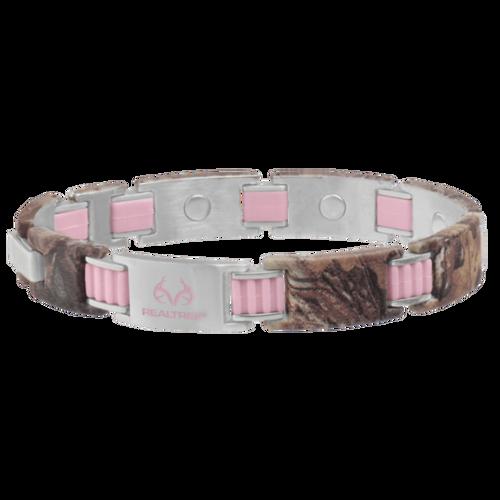 Sabona Realtree PinkLink Camo Magnetic Bracelet