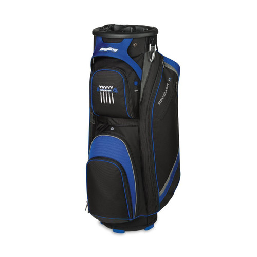 BagBoy Revolver FX Cart Bag - Black / Royal / Silver