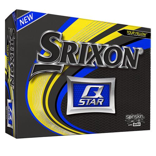 Srixon Q-Star Tour Yellow Personalized Dozen Golf Balls