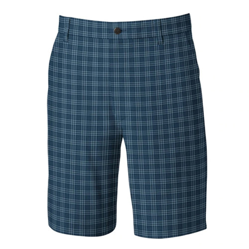 FootJoy Lightweight Performance Golf Shorts - Glen Plaid Navy (26803)