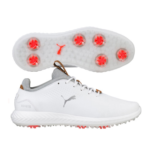 Puma Golf Junior IGNITE PWRADAPT Golf Shoes - Puma White