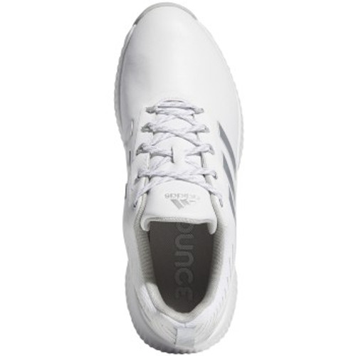 Adidas Womens Response Bounce 2.0 Golf Shoes - White / Silver Metallic / Grey Two