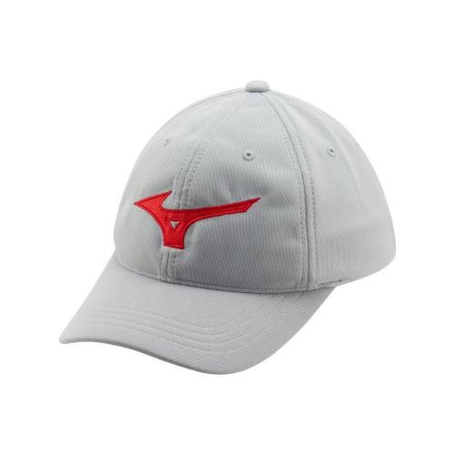 Mizuno Tour Adjustable Golf Cap - Grey / Red