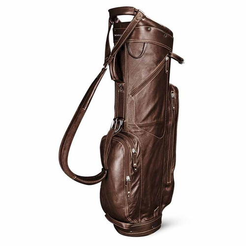 Sun Mountain Leather Cart Bag - Brown / Khaki