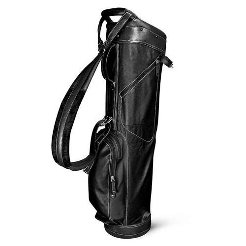 Sun Mountain Leather Sunday Bag - Black / White