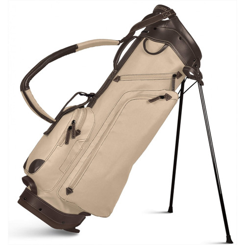 Sun Mountain Canvas / Leather Stand Bag - Natural / Brown
