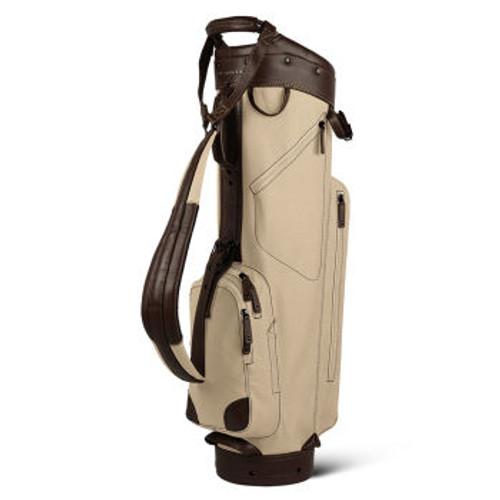 Sun Mountain Canvas / Leather Cart Bag - Natural / Brown