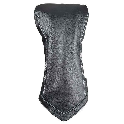 Sun Mountain Leather Driver Headcover - Black / White Chevron