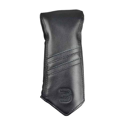 Sun Mountain Leather 3 Wood Headcover - Black / Stripe