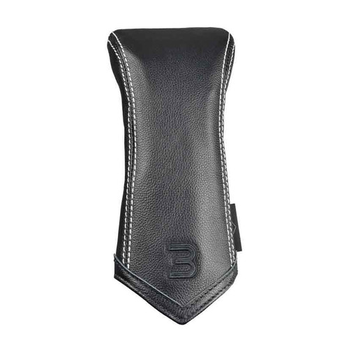 Sun Mountain Leather 3 Wood Headcover - Black / White Chevron