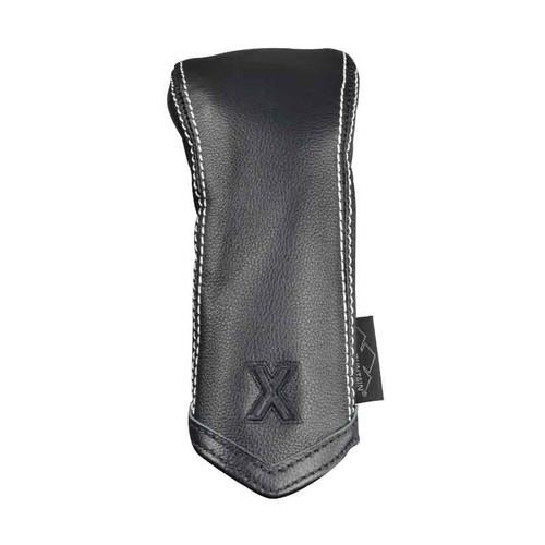 Sun Mountain Leather Hybrid Headcover - Black / White Chevron