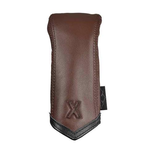 Sun Mountain Leather Hybrid Headcover - Brown / Black Chevron