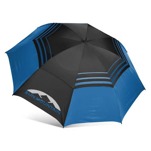 "Sun Mountain 68"" Manual UV Umbrella - Black / Cobalt"