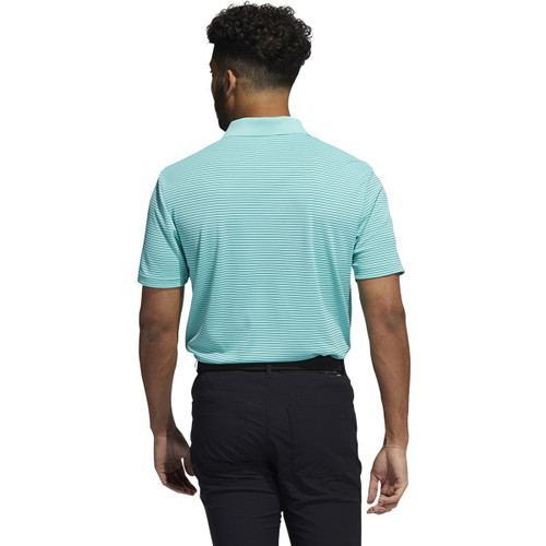 Adidas 2-Color Performance Stripe Polo - Acid Mint / Wild Teal