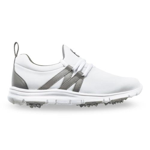 FootJoy FJ Leisure Girls Golf Shoes - White / Grey 948209)