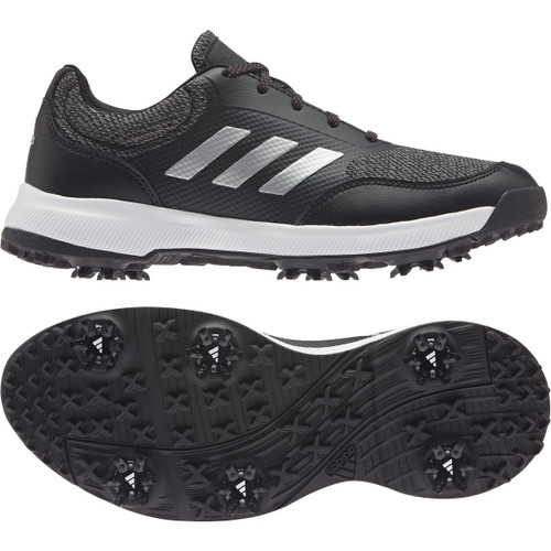 Adidas Womens Tech Response Golf Shoes- Black / Silver / Grey Four