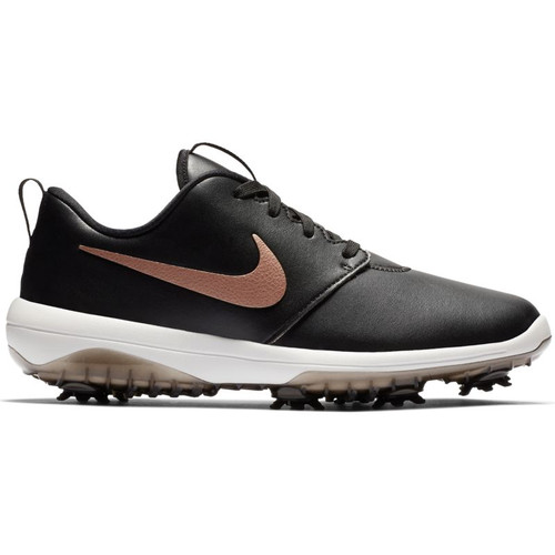 Nike Womens Roshe G Tour Golf Shoes - Black / Red Bronze / Summit White